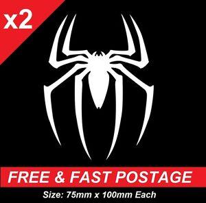 x2 Spider Man Spider Man Vinyl JDM Ute Car 4x4 Decal Sticker Gift Funny Marvel