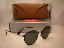 Ray Ban 3574N Blaze Round Gold w Green Lens NEW sunglasses (5RB3574N 001/71)