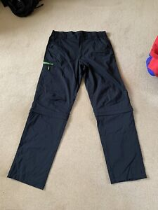 Mens Lightweight Walking Trousers/shorts Size 36