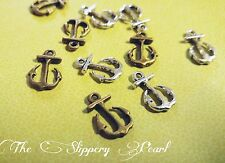 Anchor Charms Silver Anchor Charms Bronze Anchor Charms Assorted Charms Lot 12pc