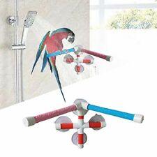Parrot Bath Stand Shower Standing Platform Rack Climbing Biting Perch Pet Toys