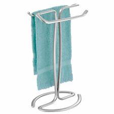 mDesign Fingertip Towel Holder for Bath Vanity Countertop - Chrome