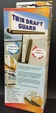 1 BOX Twin Door Draft Dodger Guard Stopper For Doors Windows Protector Doorstop