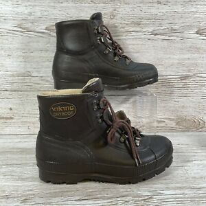 Viking Dry Boots Brown Rubber Size EU 36 US 9 - UK 3 - Good Condition