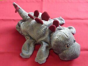 Dream Stegosaurus grey dinosaur hand glove puppet soft toy