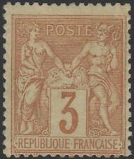 "FRANCE STAMP TIMBRE N° 86 "" SAGE 3c BISTRE SUR JAUNE "" NEUF xx TTB SIGNE  J701"