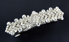 NEW CLEAR SPARKLING CRYSTALS JEWELLED FASHION HAIR BARRETTE CLIP