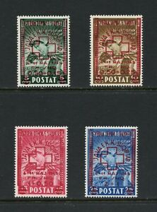 C365  Albania  1945  Red Cross SURCHARGED   4v.   MNH