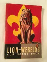 Vintage Lion-Webelos Cub Scout Book 1954