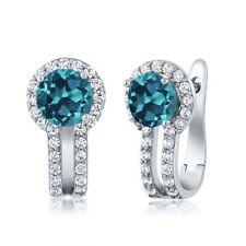 Topaz Heating Sterling Silver Fine Earrings