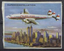 Lockheed Super Constellation Vintage Aircraft 1950s Dutch Trading Card