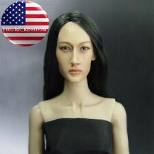 "KUMIK 1/6 Maggie Q Nikita Head Sculpt For 12"" Hot Toys PHICEN Female Figure"