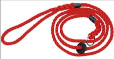 Bisley Deluxe Dog / Gundog Rope Slip Lead, Gentle on Wrist RED