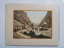 Originale Photochrome 19ème - ALGERIE - El Cantara Al Kantara Gorges Pont Romain