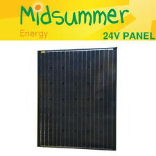 12V 200W Midsummer Black Solar PV Panel - German Cells for boats, caravans, RVs