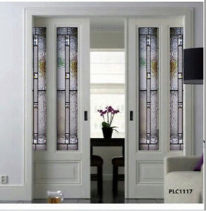 Beautiful Interior Stained glass Doors .Pocket , Barn or Hinged Style  PLC1117