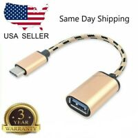 USB 3.1 Type C to USB 3.0 Type A Male-to-Female OTG Data Connector Cable Adapter