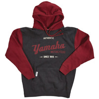 YAMAHA MENS GRAY RED OPEN ROADS HOODED PULLOVER FLEECE LOGO HOODY S L XL 2X 3X