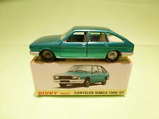 DINKY TOYS 1542  CHRYSLER SIMCA 1308 GT - RARE SELTEN - NEAR MINT  IN BOX