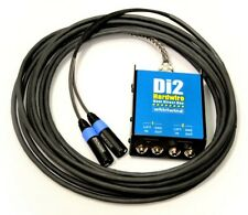 Whirlwind Di2 Direct Box Snake with 50ft Hardwired fan out Di2-050-Bl