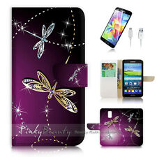 ( For Samsung S5 ) Wallet Case Cover! P1844 Dragonfly