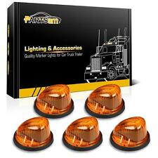 5pcs Amber Cover Roof Running Cab Marker+5xBlack Base for 73-87 GMC/Chevy Pickup