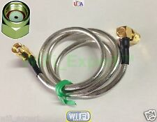 RP-SMA Male to RPSMA Male RIGHT ANGLE flexible Jumper Cable RG405 4-36 INCHES US