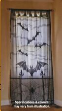 Lace Decorative Door Curtain Cloth Cover HALLOWEEN Web Lacey Bats/Spider Window