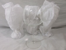 "Lot of 4 Crystal Chardonnay Wine Glasses Stem Goblet 8"" Tall"