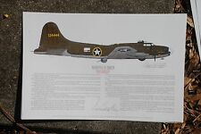 B-17 Paul Tibbets & Bf-109 Prints Signed by Pilots, Aviation Art, Ernie Boyette