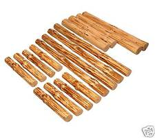 Log Furniture DIY Kit- Full bed set, handpeeled pine Use your tenon cutter
