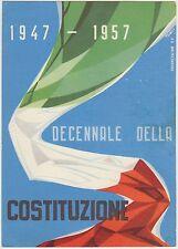 DECENNALE DELLA COSTITUZIONE 1947/1957 - ILLUSTRATORE E.TOMEI