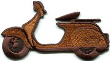 Motor scooter motorcycle cycle bike motorbike applique iron-on patch new S-366