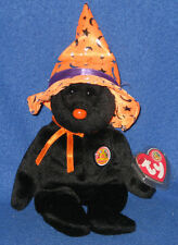 TY POCUS the HALLOWEEN BEAR BEANIE BABY - MINT TAGS - BBOM