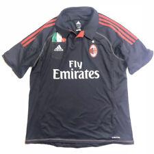 Adidas mens size Xl shirt Fly Emirates futbol soccer jersey black Ac Milan