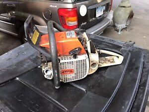 Stihl 038AV chainsaw runs great