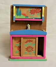 Vintage Wooden Kitchen/Sink Cabinet with sliding doors Doll House Toy