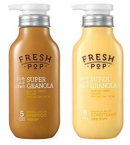 Amore Pacific Natural Fresh-pop Super Granola 500ml Shampoo+Conditioner