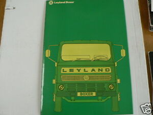 LEYLAND TRUCK VRACHTAUTO BROCHURE PROSPEKT BOXER  DUTCH 30 PAGES BXB1/D