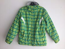 Karbon Snowboard Ski Jacket Yellow w/Blue & Green Size 14