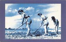 Postcard Nostalgia Land Army Girls Hoeing Atherstone Warwickshire Repro Card