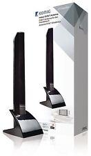 Konig intérieur DVB-T/T2 pour DAB + Antenne 15 dB VHF/UHF