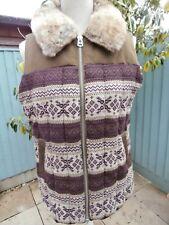 Topshop Padded Body Wamer Gilet Fur Collar NWOT 12.