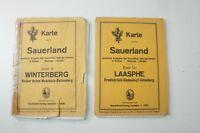 2 Karten Sauerland Blatt 9 Winterberg 1925 und  Blatt 13 Laasphe 1927 K-1273