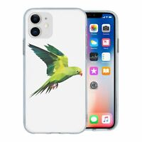For Apple iPhone 11 Silicone Case Parrot Birds - S1838