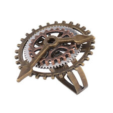 Gear ring Fingering Ornaments New Antique Steam Punk 3 Ring Clock Fear