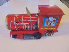western locomotive vintage tin push toy train engine teddy bear