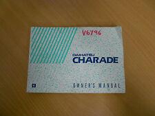 1991 Daihatsu G100 Charade Owner's Manual S/N# V6796