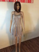 NEW NWT CACHE sexy gold bling Christmas cocktail party dress XS $148.00