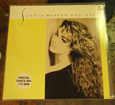SANDRA-Heaven Can Wait Vinyle 12'' 611507 + CD p&c 1988 VIRGIN Near Comme neuf
